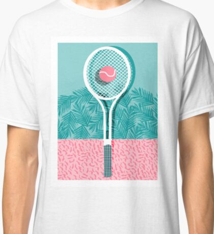Good to go - memphis throwback 1980s neon pastel abstract sports tennis racquetball athlete game Classic T-Shirt