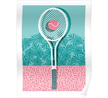 Good to go - memphis throwback 1980s neon pastel abstract sports tennis racquetball athlete game Poster