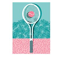 Good to go - memphis throwback 1980s neon pastel abstract sports tennis racquetball athlete game Photographic Print