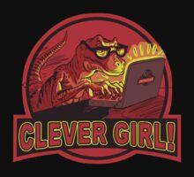 Clever Girl Velociraptor Dinosaur Humor One Piece - Short Sleeve