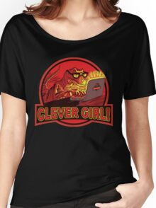 Clever Girl Velociraptor Dinosaur Humor Women's Relaxed Fit T-Shirt