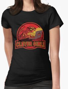 Clever Girl Velociraptor Dinosaur Humor Womens Fitted T-Shirt