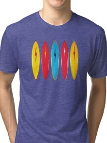 My cool vintage surfboards  Tri-blend T-Shirt