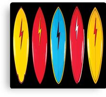 My cool vintage surfboards  Canvas Print