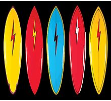 My cool vintage surfboards  Photographic Print