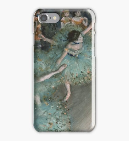 Edgar Degas - Swaying Dancer. Degas- Dancer in Green ,  show, ballet, dancers, ballerina, ballet dancer, dance, impressionism, music, opera, tutu , dress, beauty, love, girls, party iPhone Case/Skin