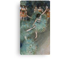Edgar Degas - Swaying Dancer. Degas- Dancer in Green ,  show, ballet, dancers, ballerina, ballet dancer, dance, impressionism, music, opera, tutu , dress, beauty, love, girls, party Canvas Print
