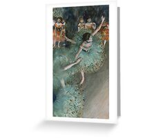 Edgar Degas - Swaying Dancer. Degas- Dancer in Green ,  show, ballet, dancers, ballerina, ballet dancer, dance, impressionism, music, opera, tutu , dress, beauty, love, girls, party Greeting Card
