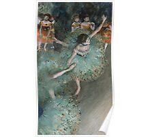 Edgar Degas - Swaying Dancer. Degas- Dancer in Green ,  show, ballet, dancers, ballerina, ballet dancer, dance, impressionism, music, opera, tutu , dress, beauty, love, girls, party Poster