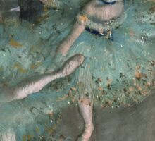 Edgar Degas - Swaying Dancer. Degas- Dancer in Green ,  show, ballet, dancers, ballerina, ballet dancer, dance, impressionism, music, opera, tutu , dress, beauty, love, girls, party Sticker