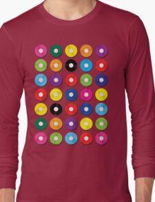 Music Vinyl Record Spots Sml Long Sleeve T-Shirt