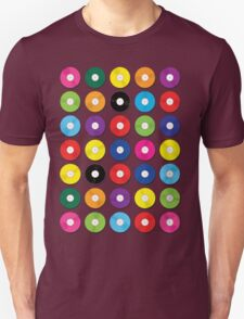 Music Vinyl Record Spots Sml Unisex T-Shirt