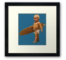 Baby Surfer Framed Print