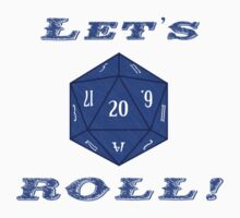 Advanced DnD - 20 Sided Die - Let's Roll! Kids Tee