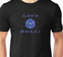 Advanced DnD - 20 Sided Die - Let's Roll! Unisex T-Shirt
