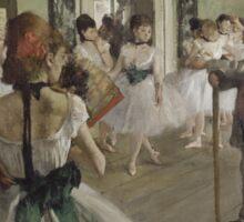 Edgar Degas - The Ballet Class (1871 - 1874) Sticker