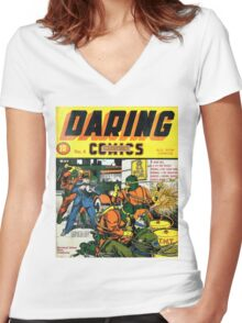 Daring Mystery Comics Women's Fitted V-Neck T-Shirt
