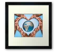 Love Earth Framed Print