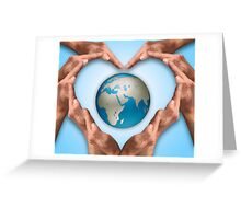 Love Earth Greeting Card