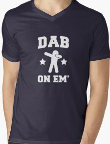 Dab On Em' stickman Mens V-Neck T-Shirt