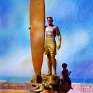 Surfer Statue ~ California ~ USA by Marie Sharp