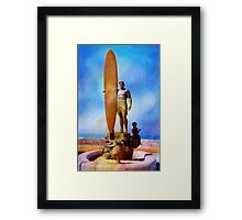 Surfer Statue ~ California ~ USA Framed Print