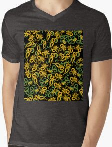 Yellow flowers Mens V-Neck T-Shirt