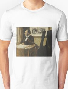 Edgar Degas - The Cellist Pilet (1868 - 1869) T-Shirt