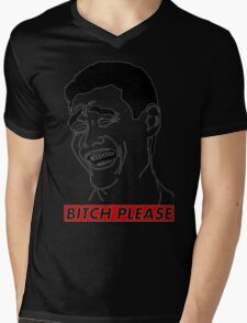 BITCH PLEASE Yao Ming Face, Meme, Rage Comics, Geek, Funny Mens V-Neck T-Shirt