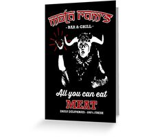 Mola Ram's Bar & Grill Greeting Card