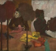 Edgar Degas - The Milliners ( 1882 - 1905) by famousartworks