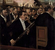 Edgar Degas - The Orchestra at the Opera ( 1870) by famousartworks