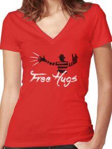 Free Hugs Freddy Women's Fitted V-Neck T-Shirt
