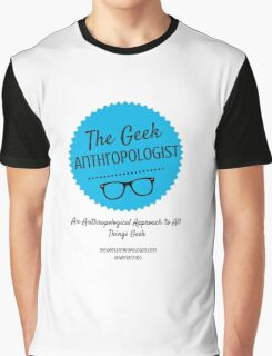 The Geek Anthropologist Logo and Infos Graphic T-Shirt
