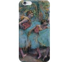Edgar Degas - Three Dancers (Blue Tutus, Red Bodices) ( 1903) iPhone Case/Skin