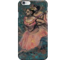 Edgar Degas - Three Dancers in Red Costume (1896) iPhone Case/Skin