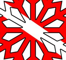 Dive flag snowflake Sticker