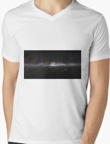 The Milky Way Galaxy Panorama  Mens V-Neck T-Shirt