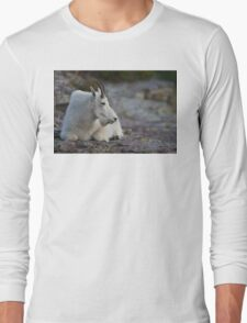 Mountain Goat Watching the Sunset Long Sleeve T-Shirt
