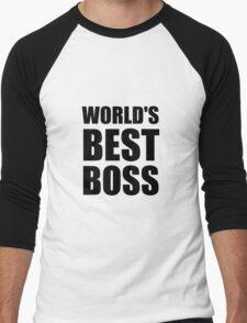 Worlds Best Boss Men's Baseball ¾ T-Shirt