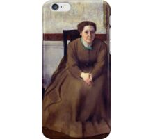 Edgar Degas - Victoria Dubourg (1868 - 1869) iPhone Case/Skin