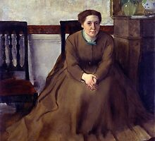 Edgar Degas - Victoria Dubourg (1868 - 1869) by famousartworks