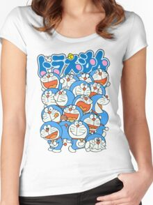 Doraemon's Expresion Women's Fitted Scoop T-Shirt