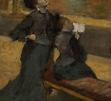 Edgar Degas - Visit to a Museum 1890 by famousartworks