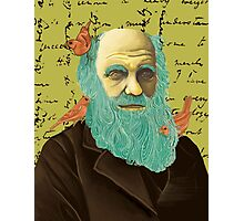 Charles Darwin and his Finches Photographic Print
