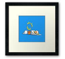 Snail circus Framed Print