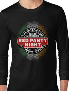 Conor Mcgregor, Red Panty Night Long Sleeve T-Shirt