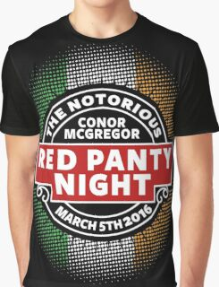 Conor Mcgregor, Red Panty Night Graphic T-Shirt