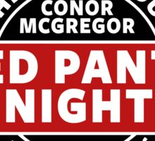Conor Mcgregor, Red Panty Night Sticker