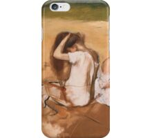 Edgar Degas - Women Combing Their Hair ( 1875-1876) iPhone Case/Skin